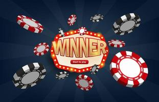 Winners lottery game jackpot prize  vector