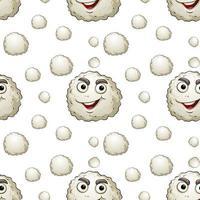 Seamless Pattern of White Virus