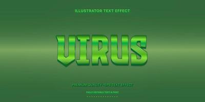 stile di testo modificabile virus verde