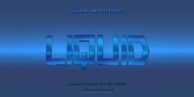 stile di testo modificabile metallico blu