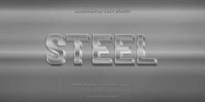 Steel Editable Text Style vector