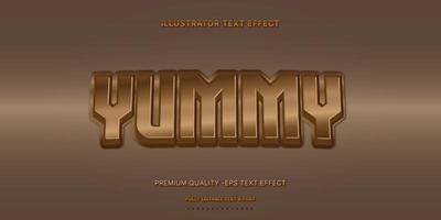 stile di testo modificabile cioccolato metallico