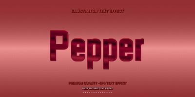 stile di testo modificabile pepe metallico
