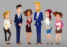 conjunto de personajes de negocios