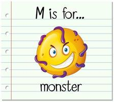M is for monster flash card