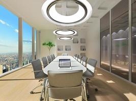 Conference room in office photo