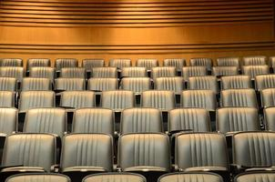 Seats in lecture theatre/conference hall