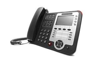 Black IP office phone isolated