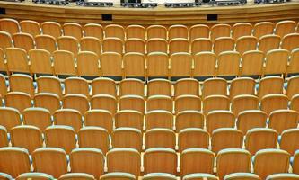 Armchairs in the auditorium
