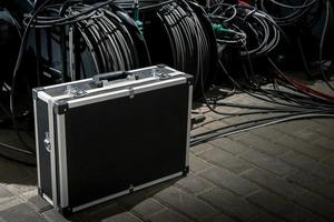 Case for the transfer of video equipment. photo