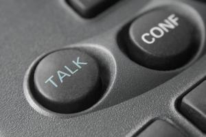 Talk button on phone - macro photo