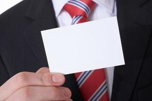tarjeta de visita foto
