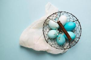 Ombre dyed Easter eggs photo