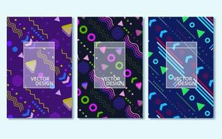 Colorful modern abstract covers set