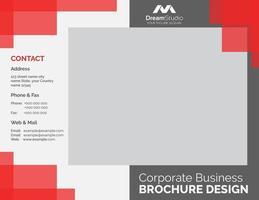 eenvoudige rode en grijze zakelijke brochure sjabloon