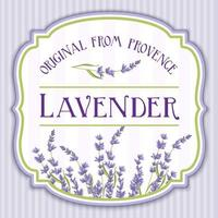 Lavender Vintage Shabby Chic Label vector