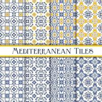 Blue and Yellow Mediterranean Style Tiles