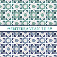 Geometric Star Mediterranean Patterns vector