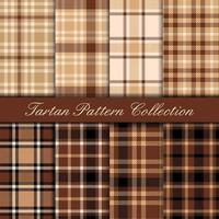 Brown and Beige Tartan Set vector