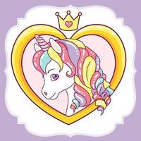 Unicorn Head in Heart Frame