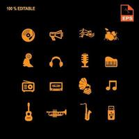 Music Audio Icons Set vector