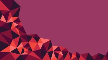 Purple and Red Low Poly Background vector