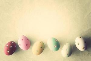 huevos de pascua vintage foto