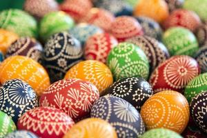 Bunch of easter eggs photo