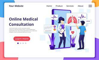 Online medical consultation landing page