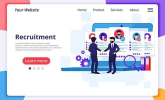 Recruitment process landing page