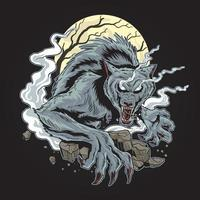 Werewolf Dark Night Design vector