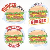Hamburger Design Set  vector