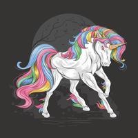 Colorful Full Body Unicorn Design vector