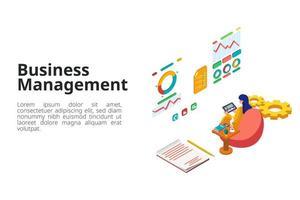 mujer gestionando negocios en tableta