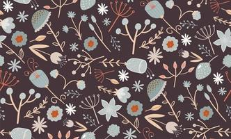 Elegant floral seamless pattern with a small flowers vector