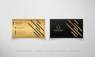 Black and gold luxury business card template