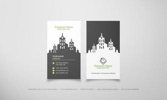 Vertical skyscraper real estate business card vector