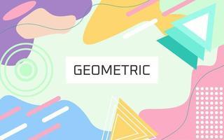 Fondo colorido geométrico en colores pastel vector