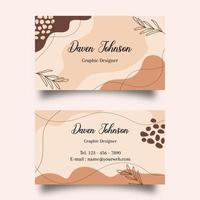 Abstract modern organic shapes business card vector