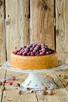 Sponge cake with cranberries