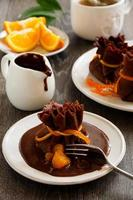 panqueques con naranja y chocolate.