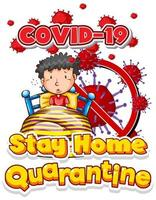 Stay Home Quarantine with Boy in Bed
