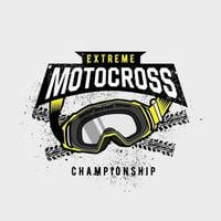 emblema de gafas de motocross extremo vector