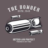 Retro style bombs emblem vector