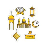 collection d'ornements de ramadan