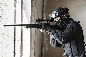 police officer SWAT in action photo