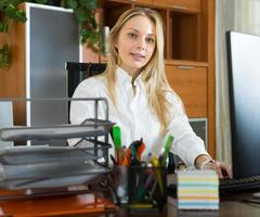 Young businesswoman in office photo