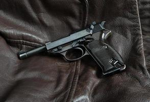 German officers sidearm. World War II vintage.