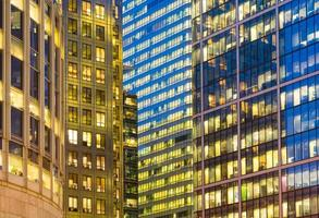Office building background in Canary Wharf, London photo