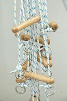Rope and pulley physiotherapy training unit